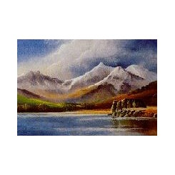 CHRISTMAS CARD Snowdon from Llyn Mymbyr Card (Pack of 4)