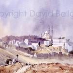 Mosque, Cairo, watercolour by David Bellamy