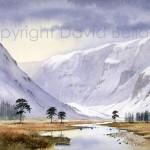 Glen Feshie, Cairngorms, watercolour by David Bellamy