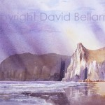 Lydstep, Pembrokeshire, watercolour by David Bellamy