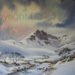 Mymbyr Valley, watercolour by David Bellamy
