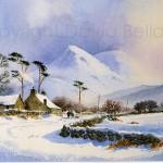 Mynydd Llandegai, Snowdonia, watercolour by David Bellamy