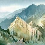 Sgurr Thormaid, watecolour by David Bellamy