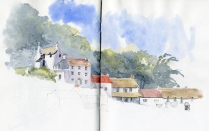 lynmouth sketch 2