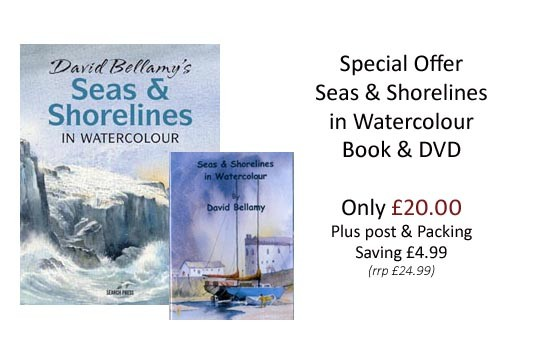Seas & Shorelines in Watercolour book and DVD offer